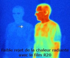 Thermographie avec et sans film solaire d'isolation bâtiment