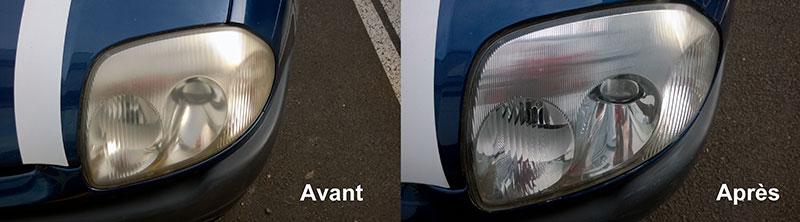 Rénovation professionnelle de phares automobile